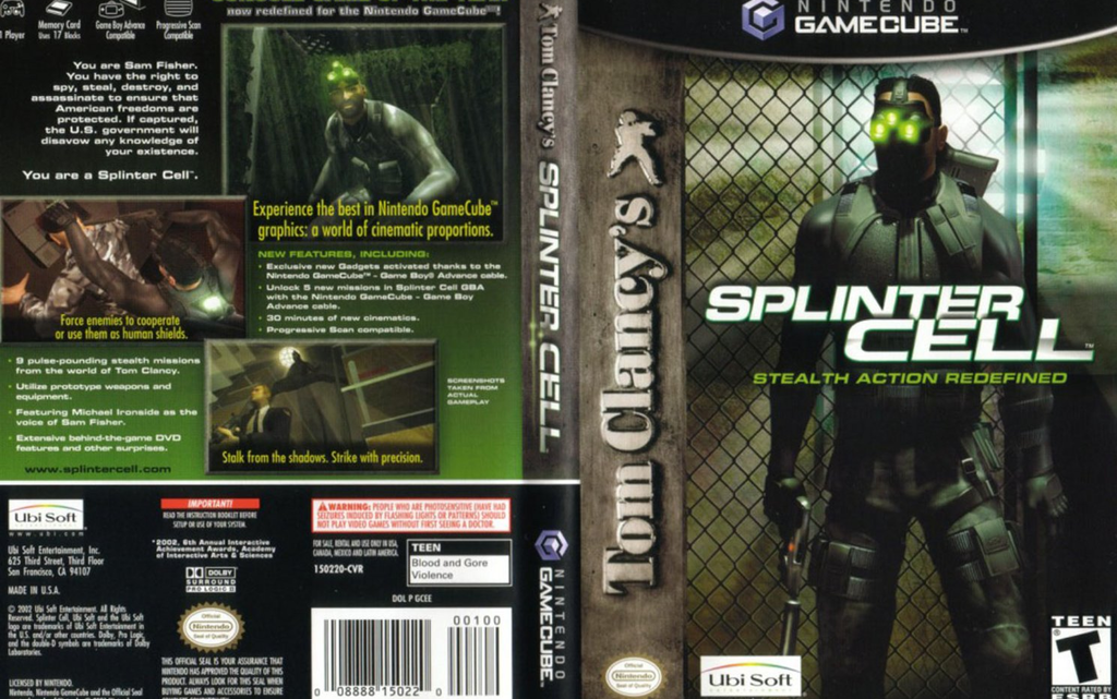 Tom Clancy´s Splinter Cell GameCube
