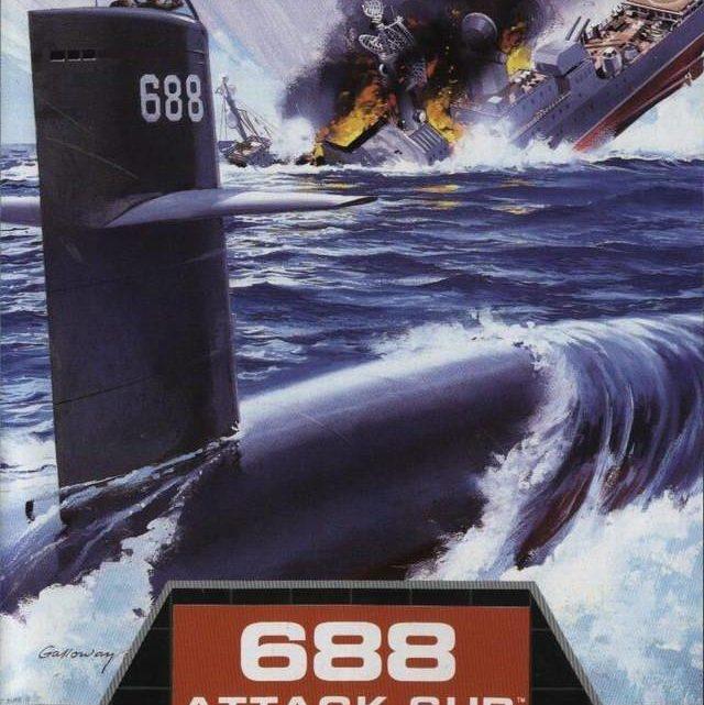688 Attack Sub Electronic Arts Sega 1991