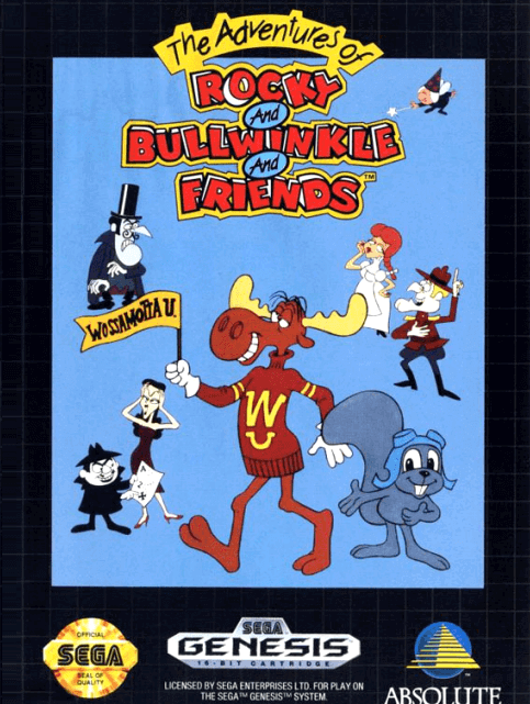 Rocky and Bullwinkle and Friends Sega Genesis!