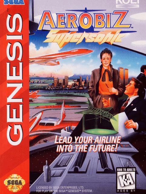 Aerobiz Supersonic Sega Megadrive