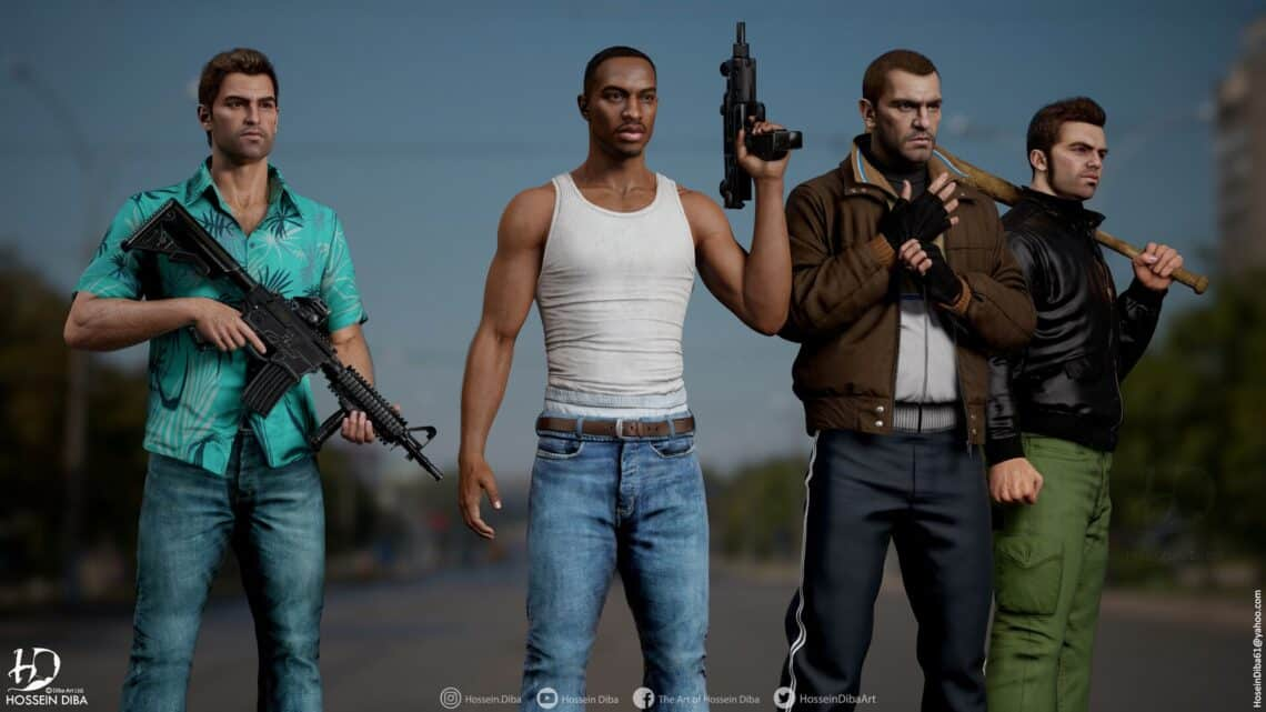 GTA: TOMMY VERCETTI, CJ E NIKO BELLIC EM HD, POSSIVEIS REMAKES PS5