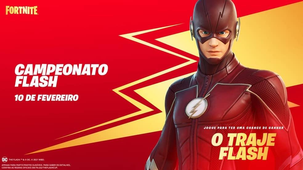 Torneio Flash Fortnite (fevereiro) Como obter o Flash Skin grátis?